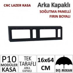 16x64cm CNC Lazer Kesim Kapaklı Kasa