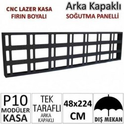 48x224cm CNC Lazer Kesim Kapaklı Kasa