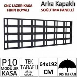 64x192cm CNC Lazer Kesim Kapaklı Kasa