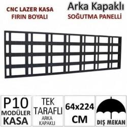 64x256cm CNC Lazer Kesim Kapaklı Kasa