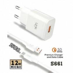 S661 Premium Q.C 3.0 Micro Şarj/Data Kablo