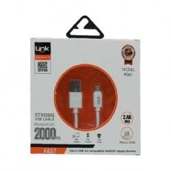 Micro USB 2metre Şarj Kablosu