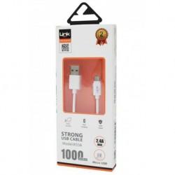 Micro USB 2.4A 1metre Şarj Kablosu