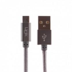 Micro Metal Başlı 30cm Şarj Kablosu