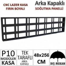 48x256cm CNC Lazer Kesim Kapaklı Kasa