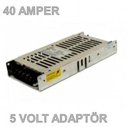 5V 40A Slim Metal Kasa Adaptör
