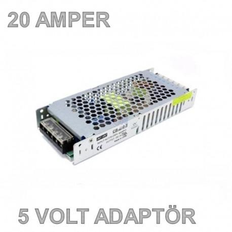 5V 20A Slim Metal Kasa Adaptör