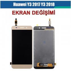 Huawei Y3 2018 - 2017 Ekran değişimi