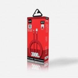 Metal Başlı 3000mm Micro USB Şarj Kablosu