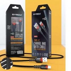 Type-C - ÖRGÜ Hızlı Şarj ve Data Kablosu 2A